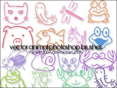 Cute Animal Brushes. by allisonwashko