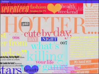 magazine word brushes. by allisonwashko