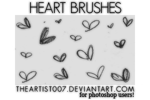 Cute Heart Brushes. by allisonwashko