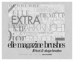 elle magazine brushes, by allisonwashko