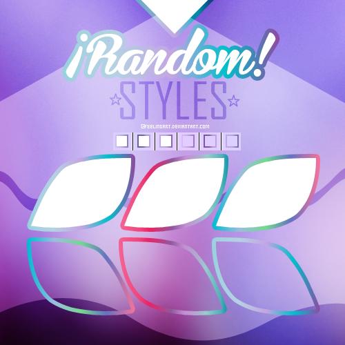 6 Random Styles by feelingart