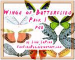 Wings Butterflies PSD part 1