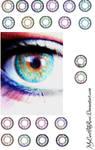 Contact Lenses-GIMP FULLVIEW