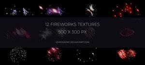 12 Fireworks Textures