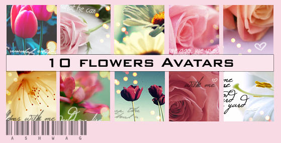 flowers Avatars by ashwaaag
