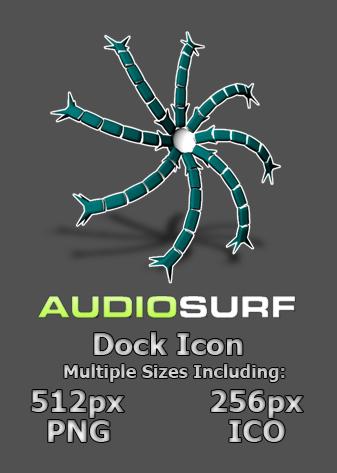 AudioSurf Dock Icon - no BG by lapinlunaire