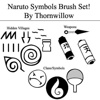 Naruto Symbol Brush Set By Thornwillow On Deviantart