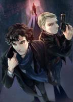 Sherlock and John in 2.5D by arashicat