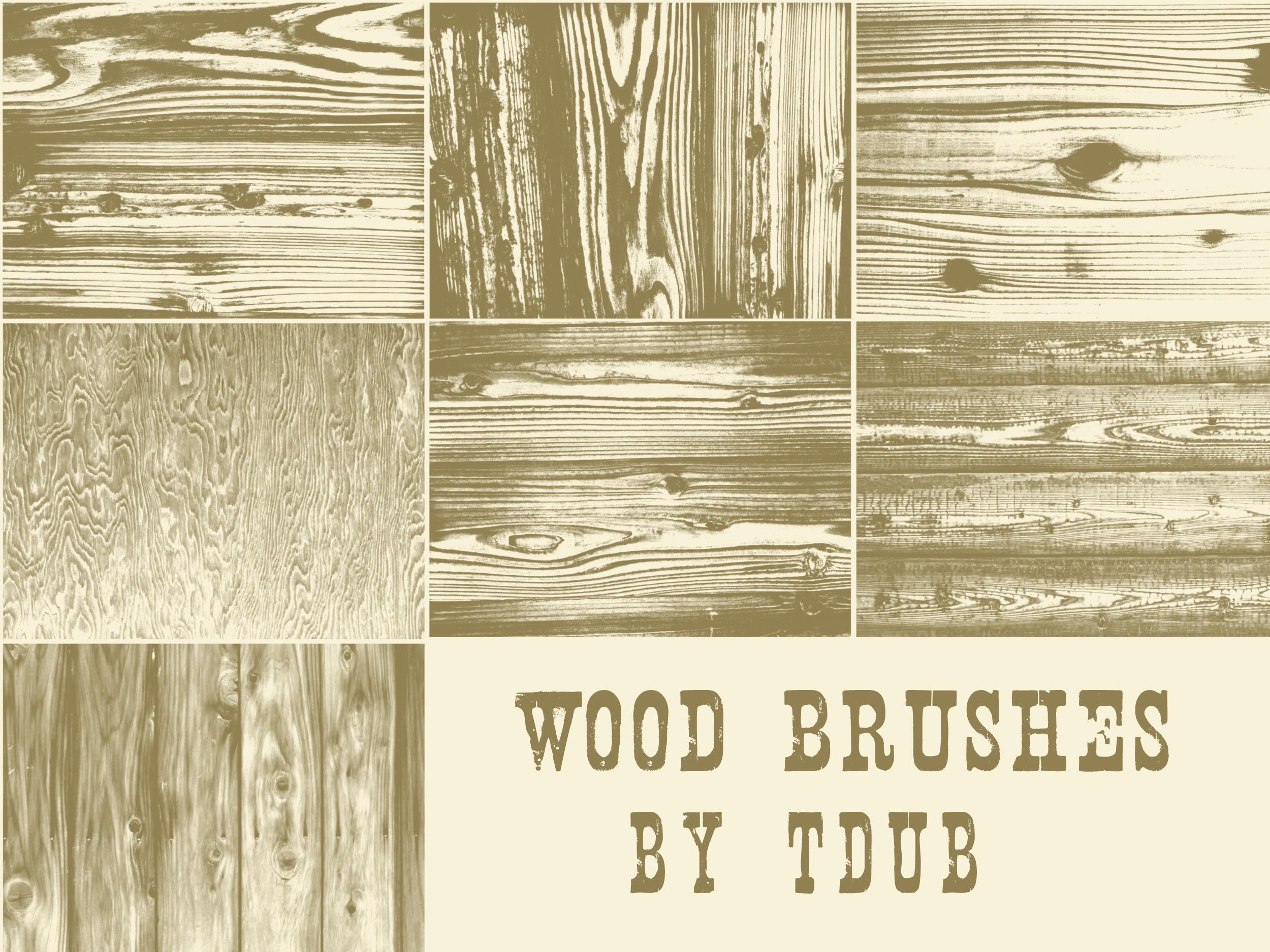 wood brushes by t-mang