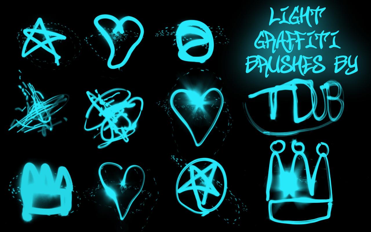 light graffiti brushes
