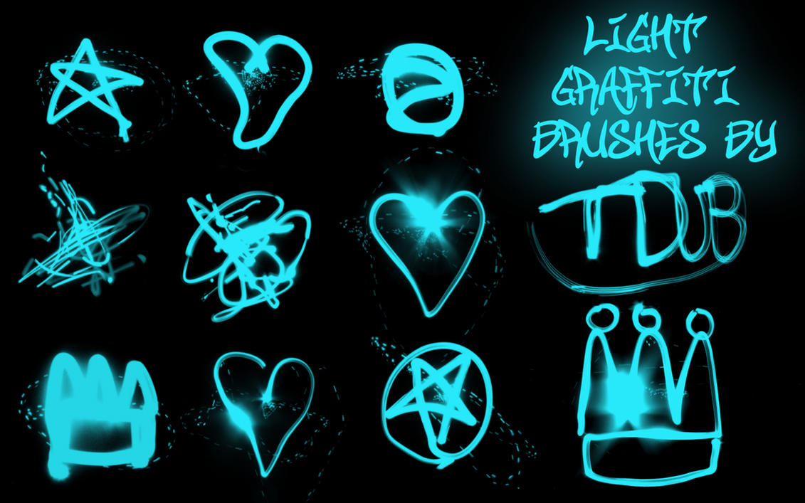 light graffiti brushes by t-mang