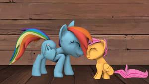 Rainbow Dash and Scootaloo Dawwww - Animated by argodaemon
