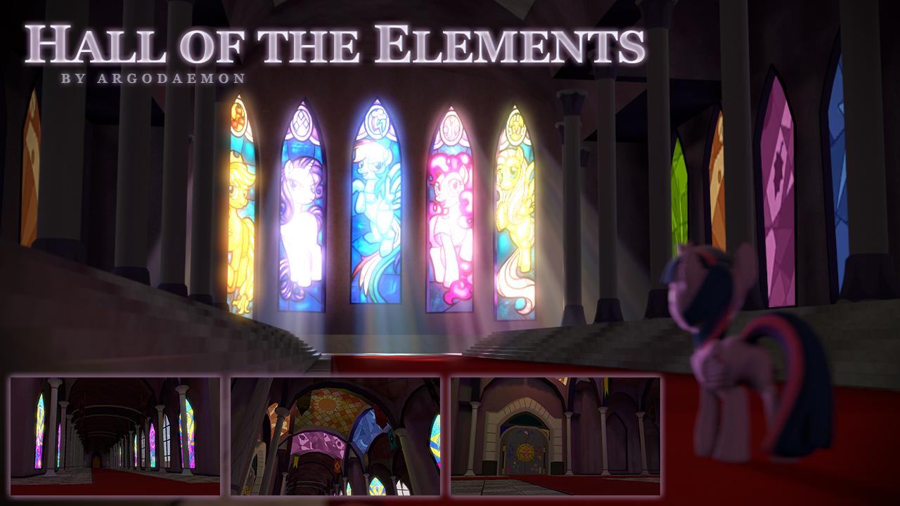 Hall of the Elements Map v2 [SFM Resource] by argodaemon