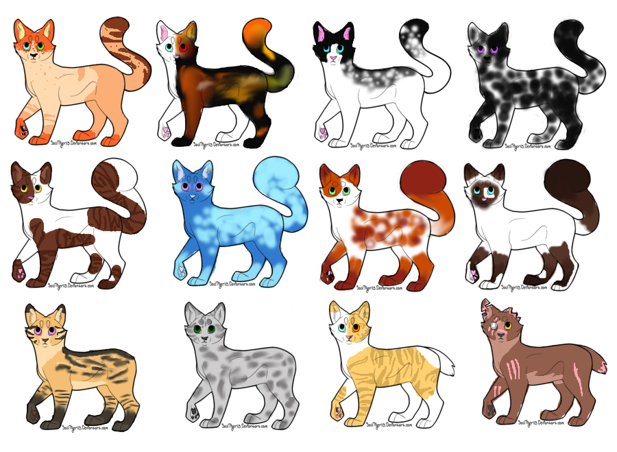 12 cat adopts 6/12~OPEN by Dinorule1019