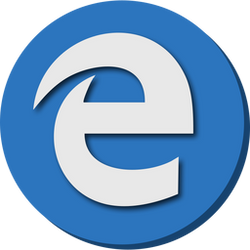 Microsoft Edge icon flat design
