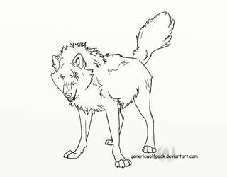 Line Art: Warrior Wolf by GenericWolfPack
