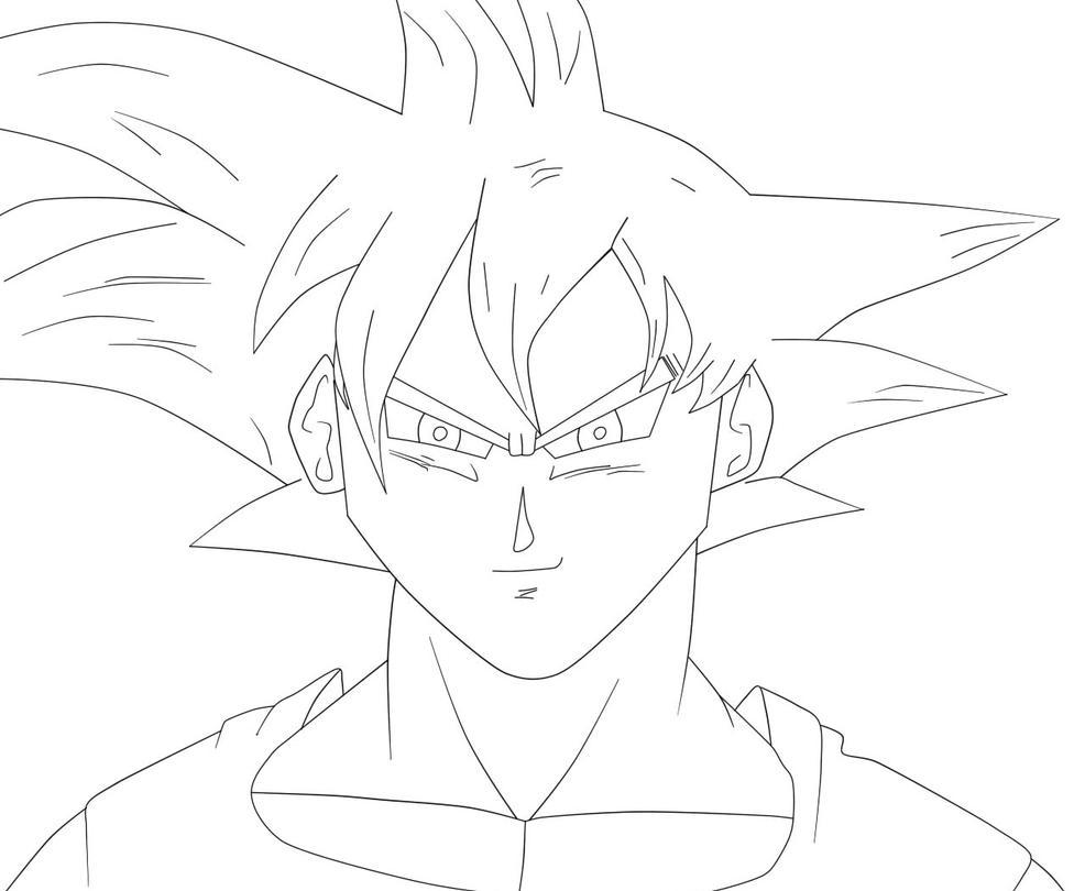 Goku Ssj Dios F Para Colorear Goku Ssj Dios F Para Imprimir: Super Saiyan God Goku (Black And White Version) By