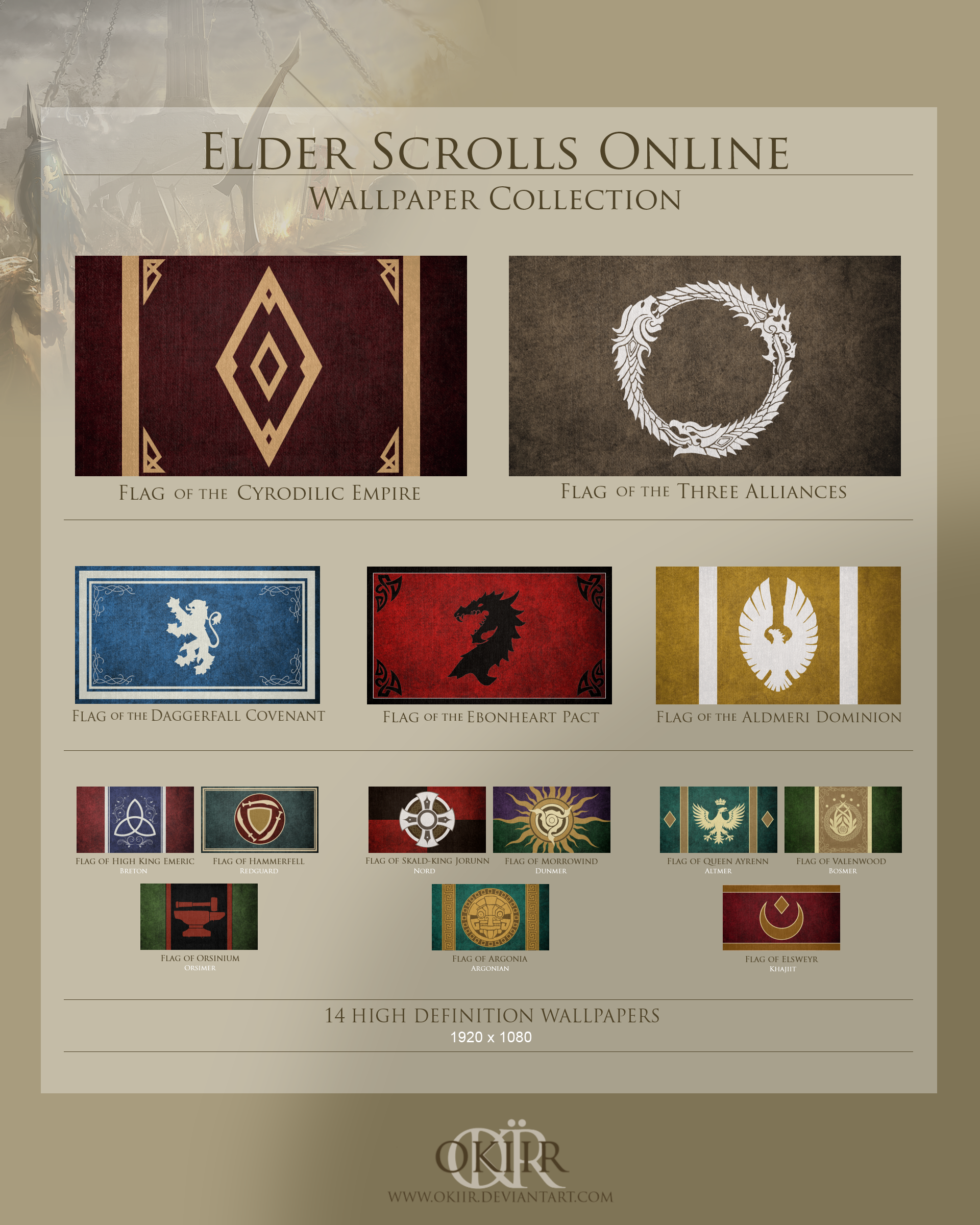 The Elder Scrolls: Complete Wallpaper Collection by okiir