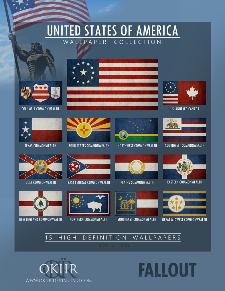 FALLOUT United States Of America Collection By Okiir On DeviantArt - Fallout game map of us