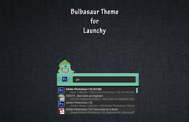 Bulbasaur Launchy