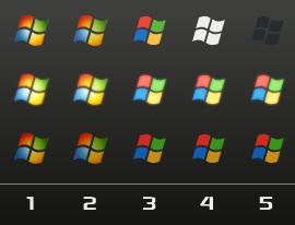 Windows Logo Orbs x5 by davidm147