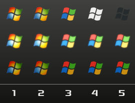 Windows Logo Orbs x5