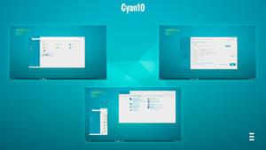 Theme Cyan 10 Windows 10 (1803)