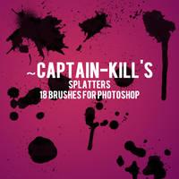 Splatter Brushes for PS by captain-kill