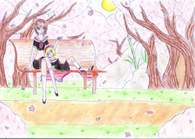 +OPHS+ Contest: Under the Sakura by EmiTheOtter
