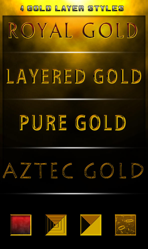 4 Gold styles -FREE- by Xiox231
