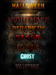 Halloween Layer Styles -FREE-