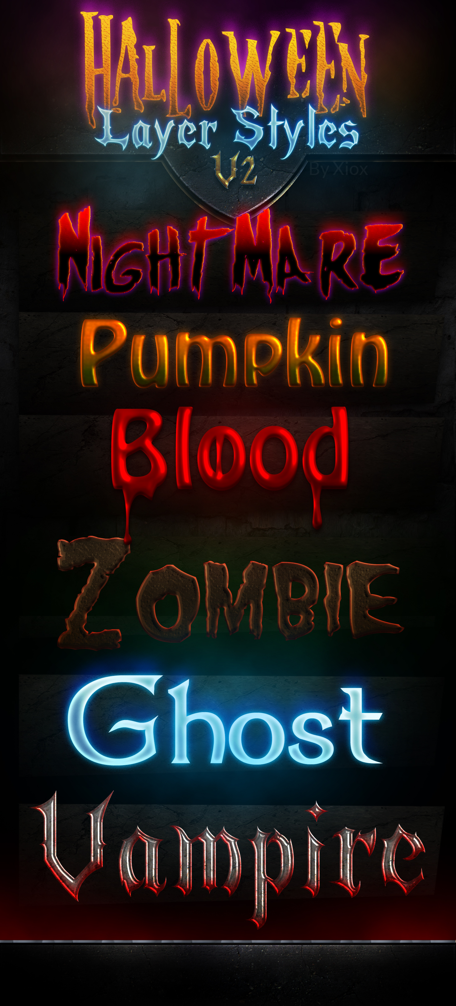 6 Free Halloween Photoshop Text Effects