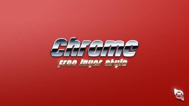 Chrome Layer Style -FREE-
