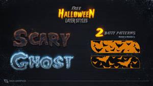 Free Halloween Layer Styles -FREE-