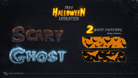 Free Halloween Layer Styles -FREE- by Xiox231