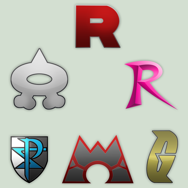 Pokemon Bad Teams Logos by RamiroMaldini
