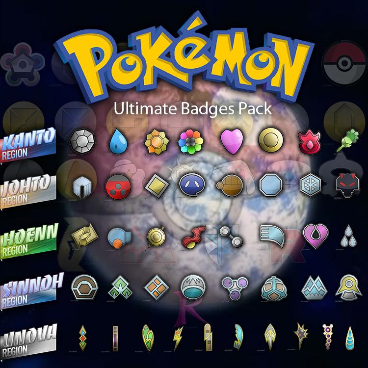 Ultimate Pokemon Badges Pack HD by RamiroMaldini