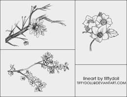 flower brush set by tiffydoll