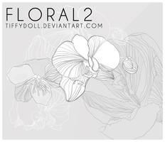flower brush set 2 by tiffydoll