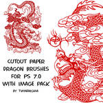 Cutout Paper Dragon Brushes