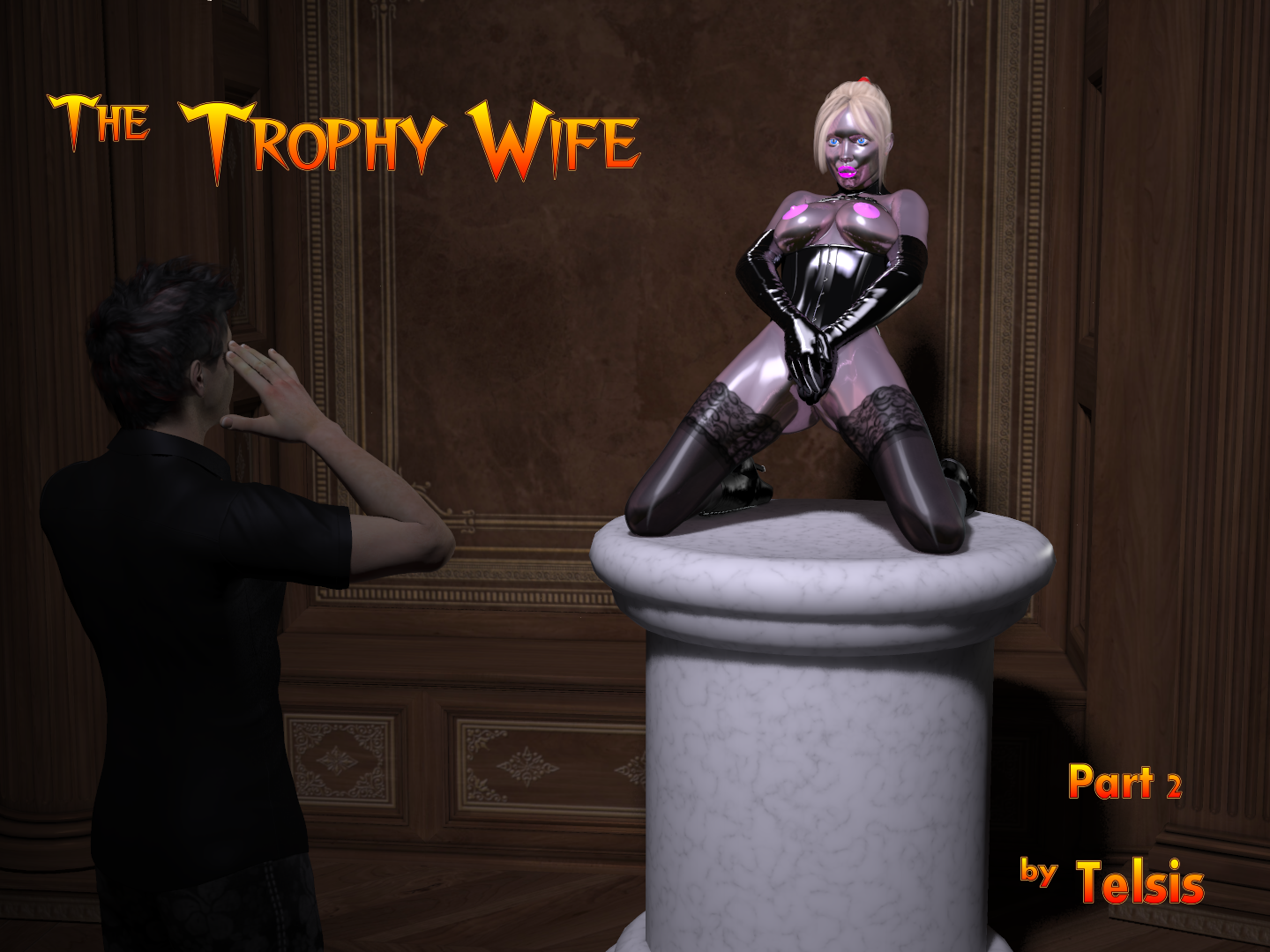 image Trophy wife given a bbc for birthday
