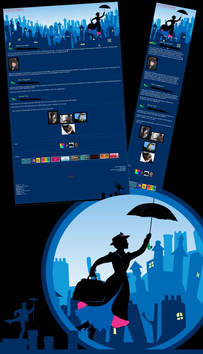 Mary Poppins Broadway Journal by kproductions