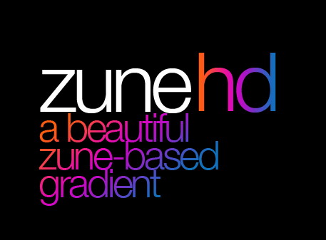 Zune HD Gradient by VengeanceDesigns