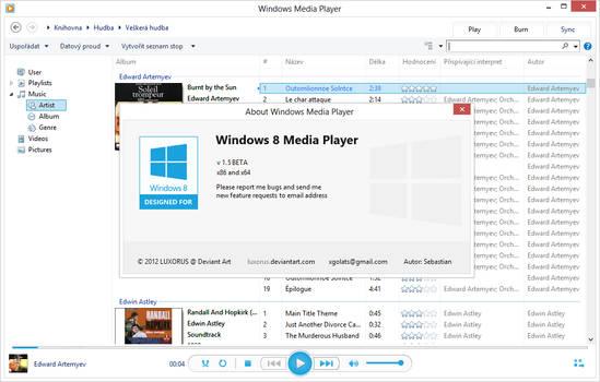 Windows 8 Media Player skin v 1.5.1 Beta (32/64)