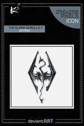 The Elder Scrolls V Skyrim - Icon by karim3adel