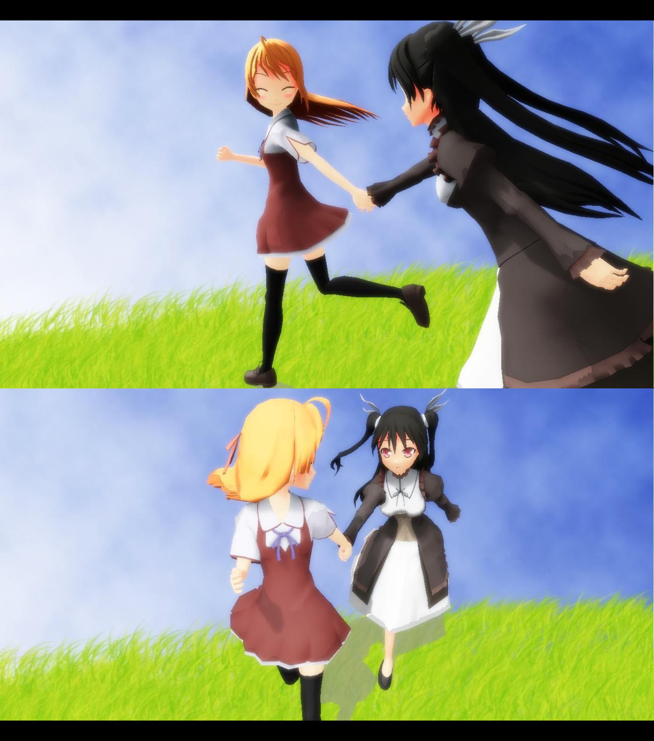 Anime Characters Running : Running pose by g u on deviantart