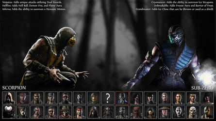 MKX Selection Screen