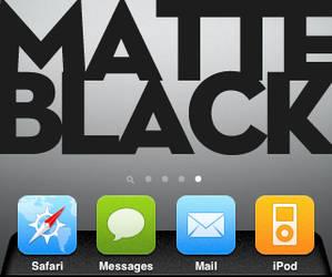 Matte Black Dock by GooGooJoob