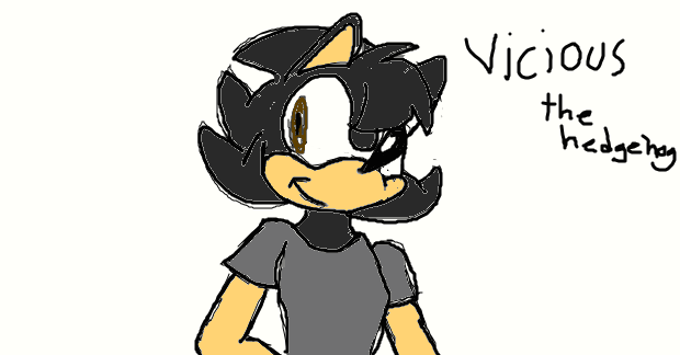 vicious the hedgehog by xX-foxydevil420-Xx