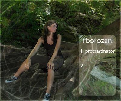 Procrastinating in the woods